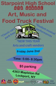 June 2: Starpoint High School: 4th Annual Art, Music and Food Truck Festival
